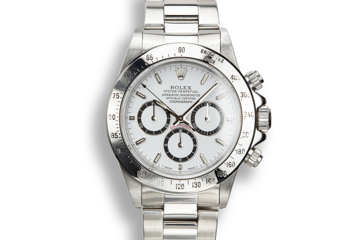 1991 Rolex Zenith Daytona 16520 White Dial with Inverted 6 Dial photo, #0
