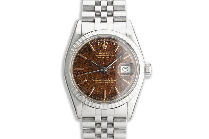 1974 Vintage Rolex DateJust 1603 with Tropical Gilt Dial and HQ Milton Service Papers photo