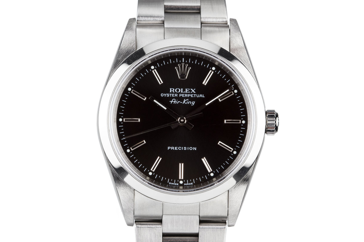 2000 Rolex Air-King 14000 Black Dial photo, #0