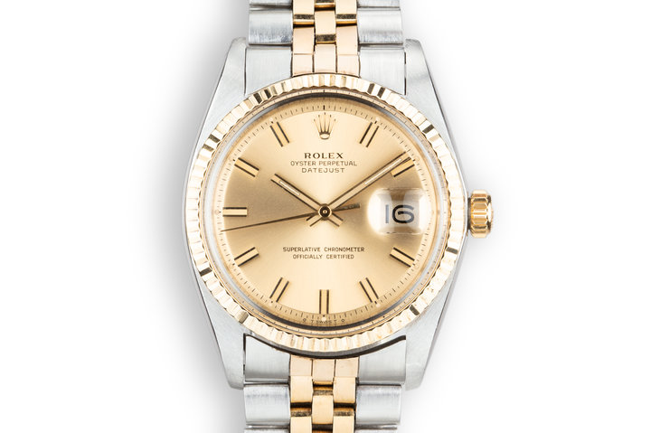 1971 Rolex Two-Tone DateJust 1601 with Sigma Champagne Dial photo