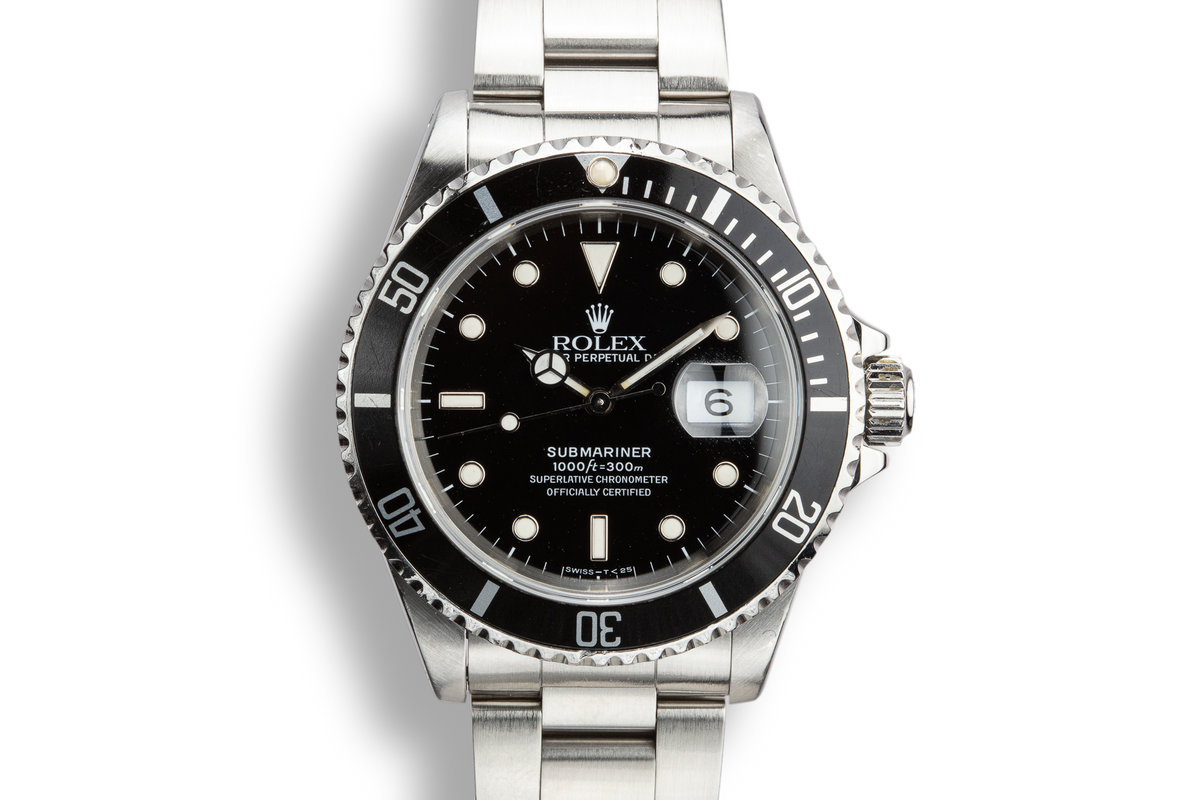 1990 Rolex Submariner 16610 With Box and Papers photo, #0