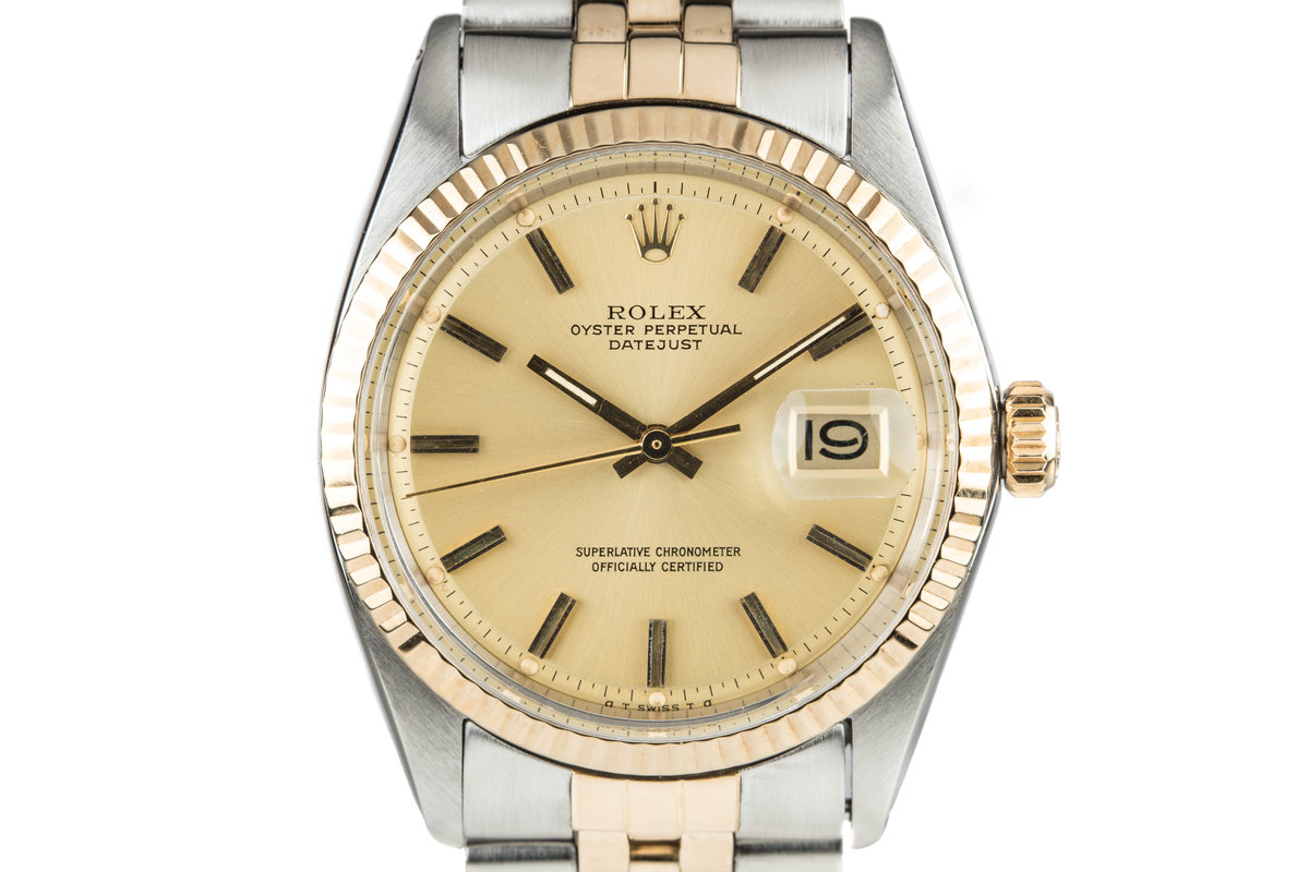 1972 Rolex Two Tone DateJust 1601 Gold Sigma Dial photo, #0