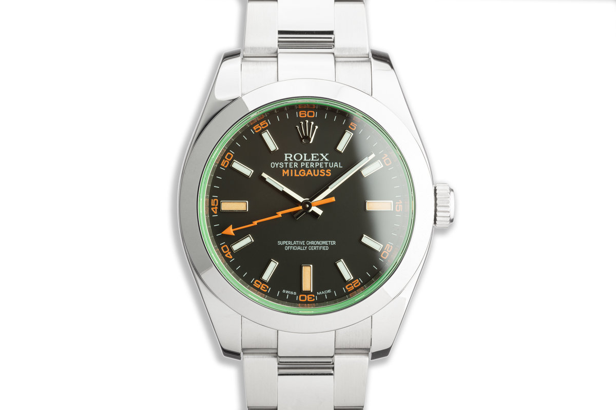 2010 Rolex Milgauss 116400GV Black Dial with Box and Card photo, #0