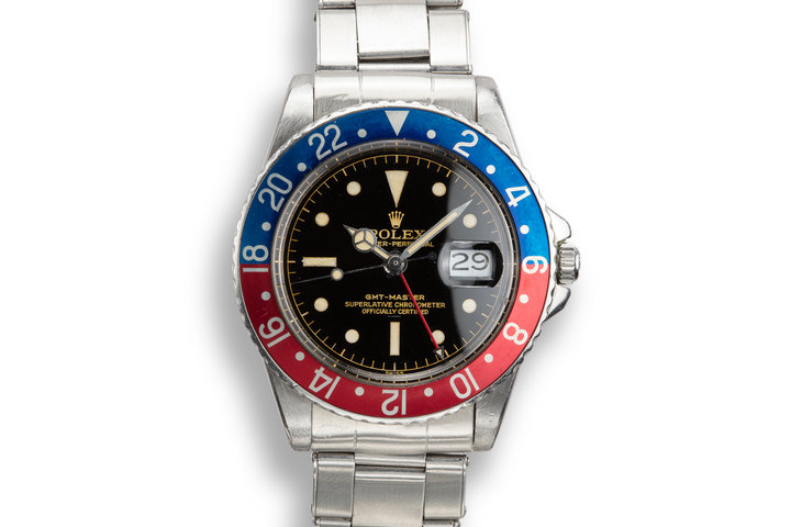 1963 Rolex GMT 1675 PCG Gilt Chapter Ring Underline Dial with Box, Papers, and Service Papers photo