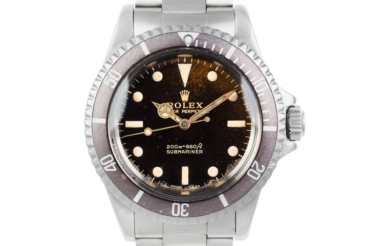 1965 Rolex Submariner 5513 with Tropical Glossy Gilt Dial photo, #0