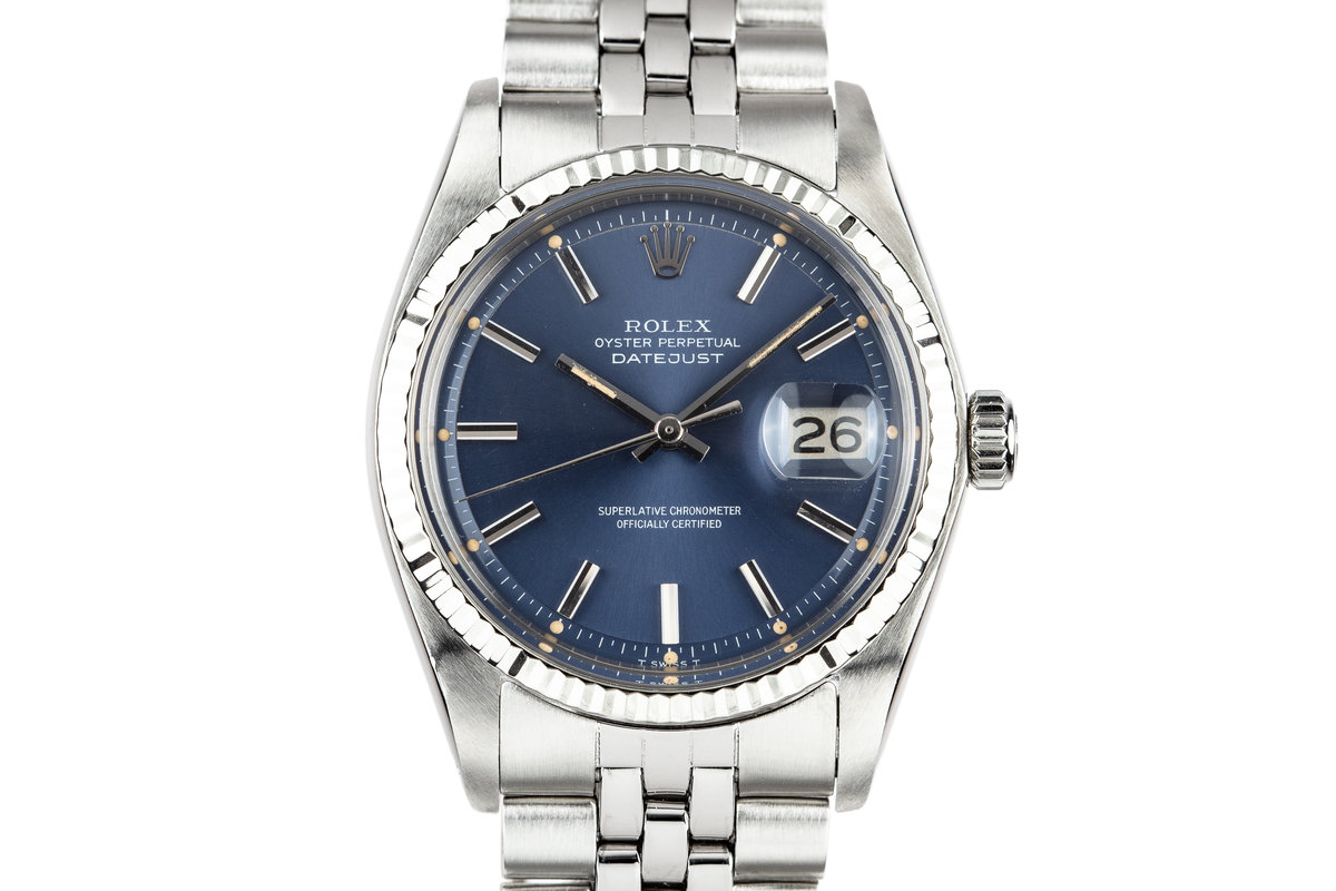 1972 Rolex DateJust 1601 Blue Dial photo, #0