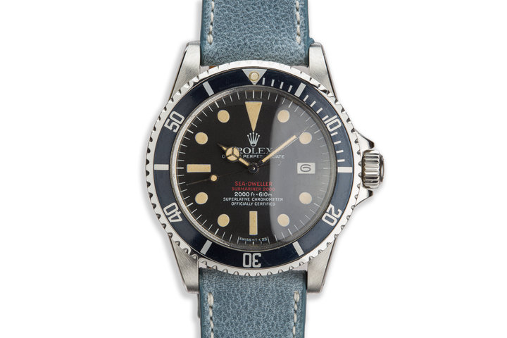 1972 Vintage Rolex Double Red Sea-Dweller 1665 Mark IV Dial photo