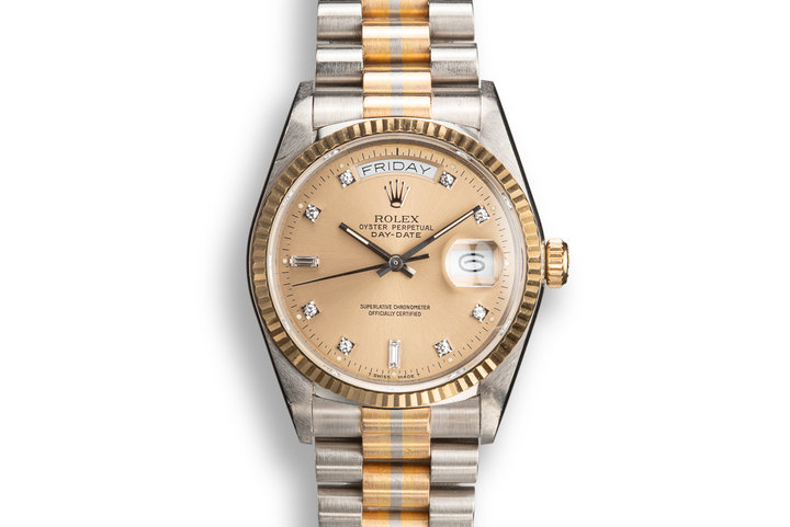 1987 Rolex Tridor Day-Date 18039B with Champagne Diamond Dial photo