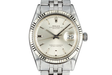 1968 Rolex DateJust 1601 with No Lume Silver Dial photo