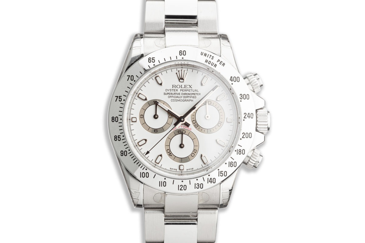 2007 Rolex Daytona 116520 White Dial with Box & Papers photo, #0