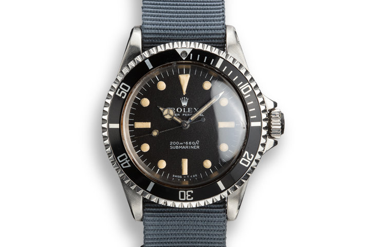 1968 Rolex Submariner 5513 with Relumed Meters First Dial photo