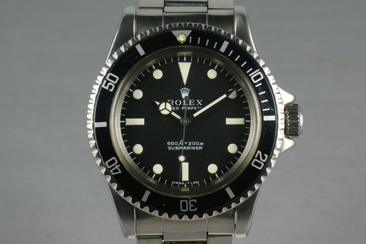 Rolex Submariner Dial Ref: 5513 with box and papers and service paper photo