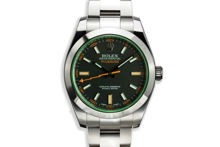 2014 Rolex Milgauss 116400GV Black Dial with Box and Card photo