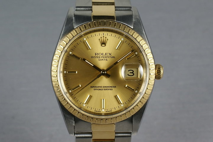 Rolex Date Two Tone 15233 with Oyster Bracelet photo
