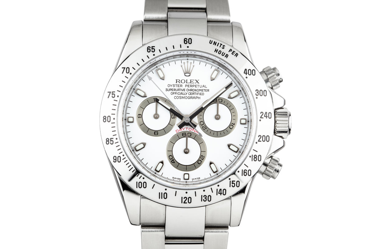2006 Rolex Daytona 116520 White Dial with Box and Papers photo, #0