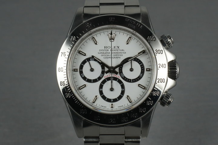 Rolex  Zenith Daytona 16520 Inverted 6 white dial photo