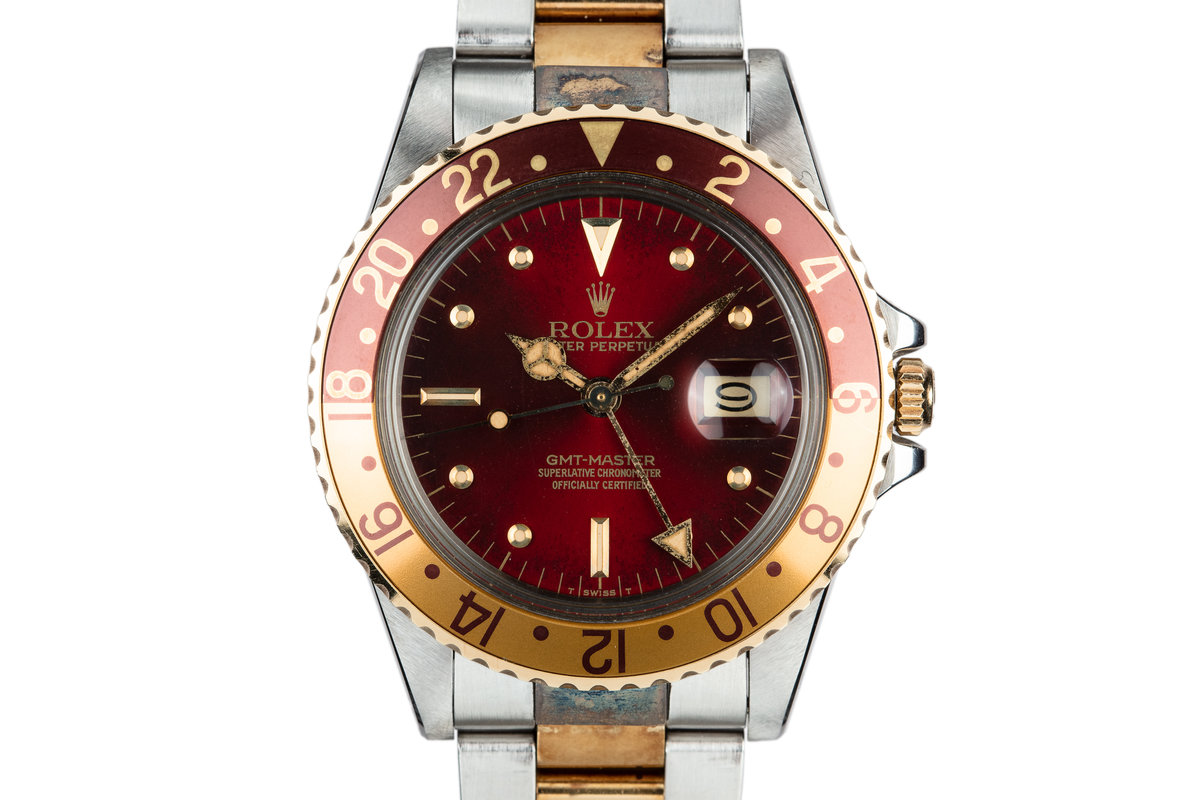 "1980 Rolex Two-Tone GMT-Master 16753 with ""Hawaiian Punch"" Dial photo, #0"