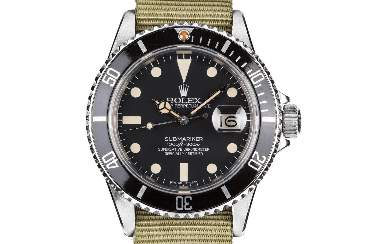 1982 Rolex Submariner 16800 Matte Dial photo, #0