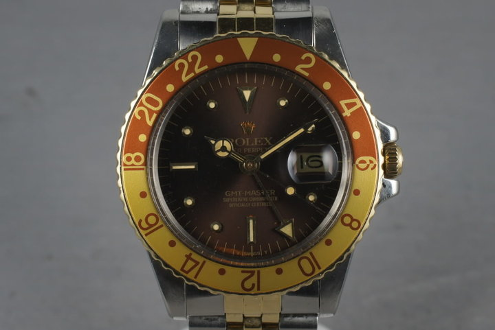 1978 Rolex GMT Two Tone 1675 with root beer nipple dial photo