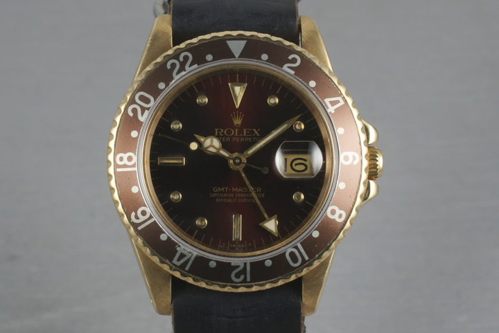 GMT 18K with Root Beer Nipple Dial  16758 photo