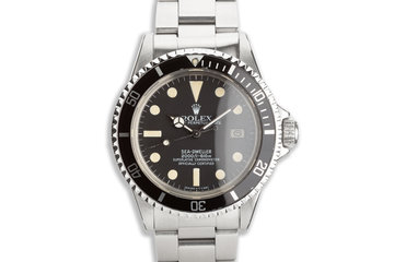 1980 Rolex Sea-Dweller 1665 MARK III DIAL photo