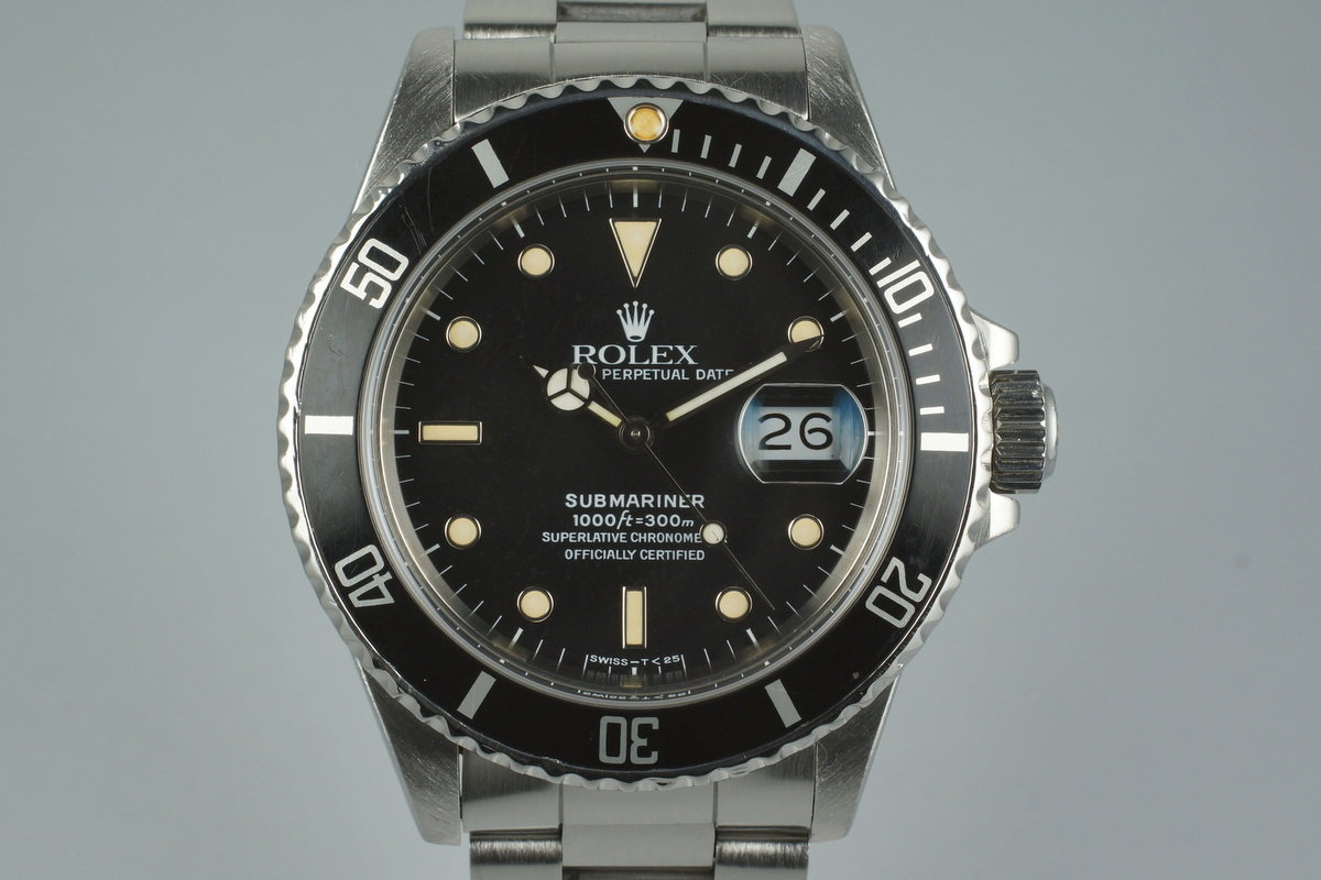 1988 Rolex Submariner 168000 with Box and Papers photo, #0