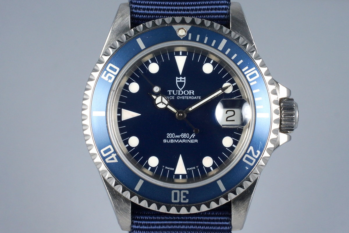 1995 Tudor Blue Submariner 79190 with Box and Papers photo, #0