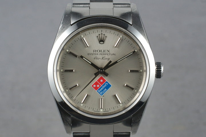 1999 Rolex Air-King 14000 Domino's Pizza Logo Dial photo