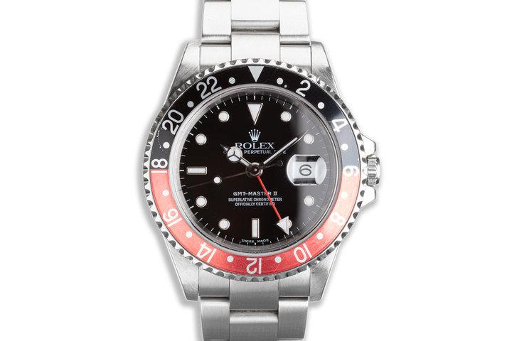 "2000 Rolex GMT-Master II 16710 ""Coke"" Bezel Box & Papers photo"