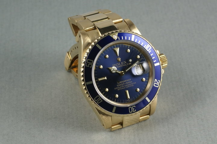 Rolex 18K Submariner Color Change Nipple Dial photo