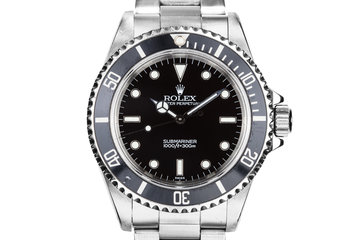 "1998 Rolex Submariner 14060 with ""SWISS"" Only Dial photo"
