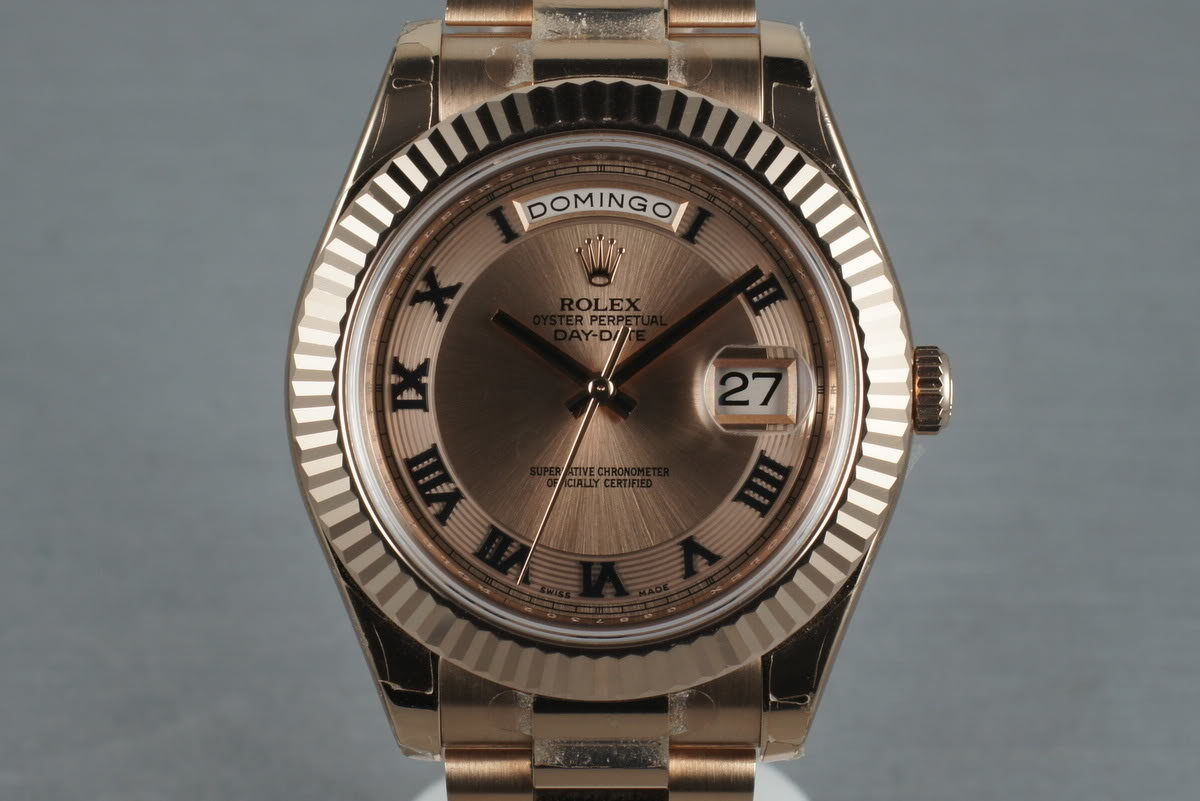 2012 Rose Gold Day Date 2 218235 with Box and Papers photo, #0