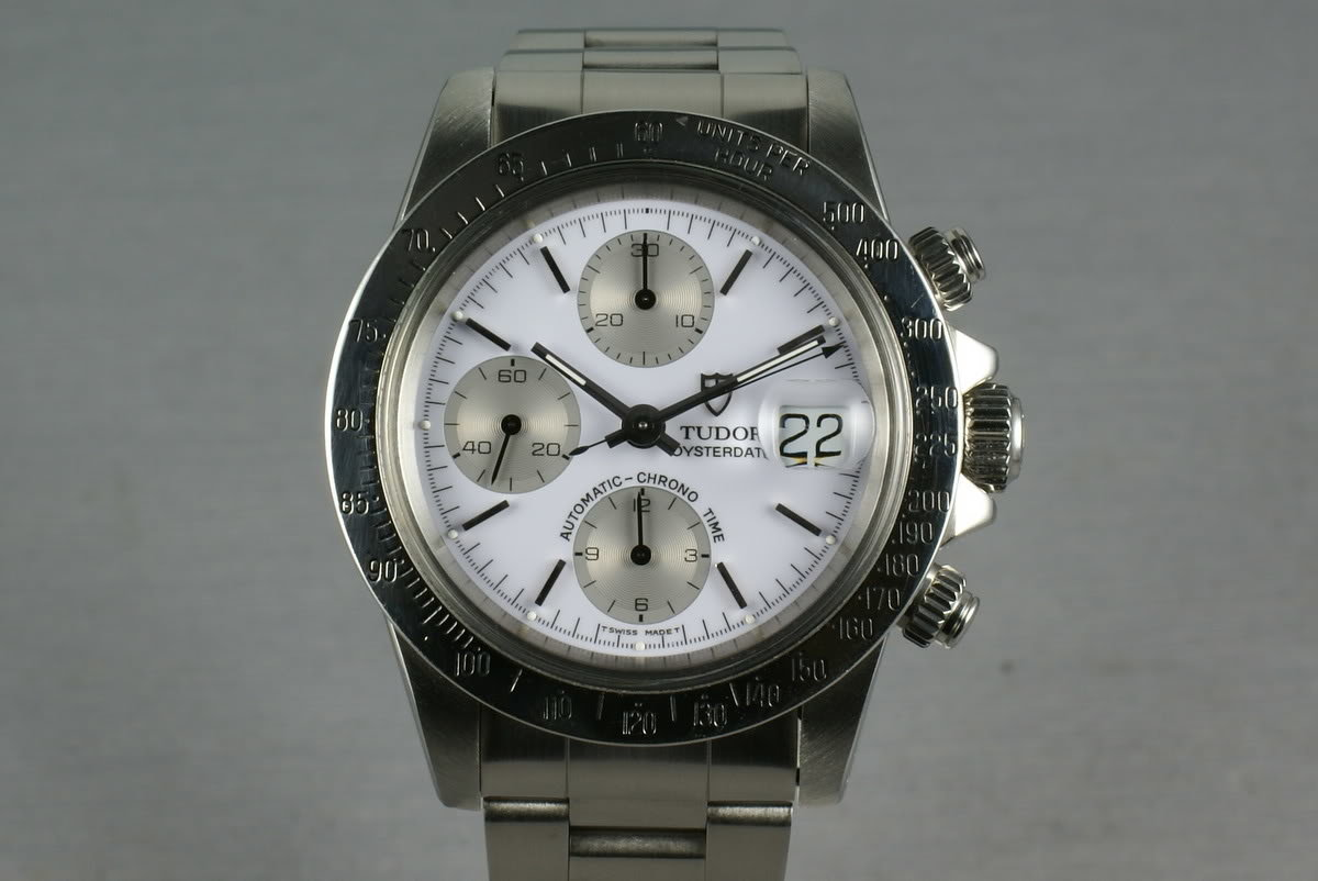 Tudor Chronograph Big Block 79180 with Rolex Service Papers and Porcelain dial photo, #0