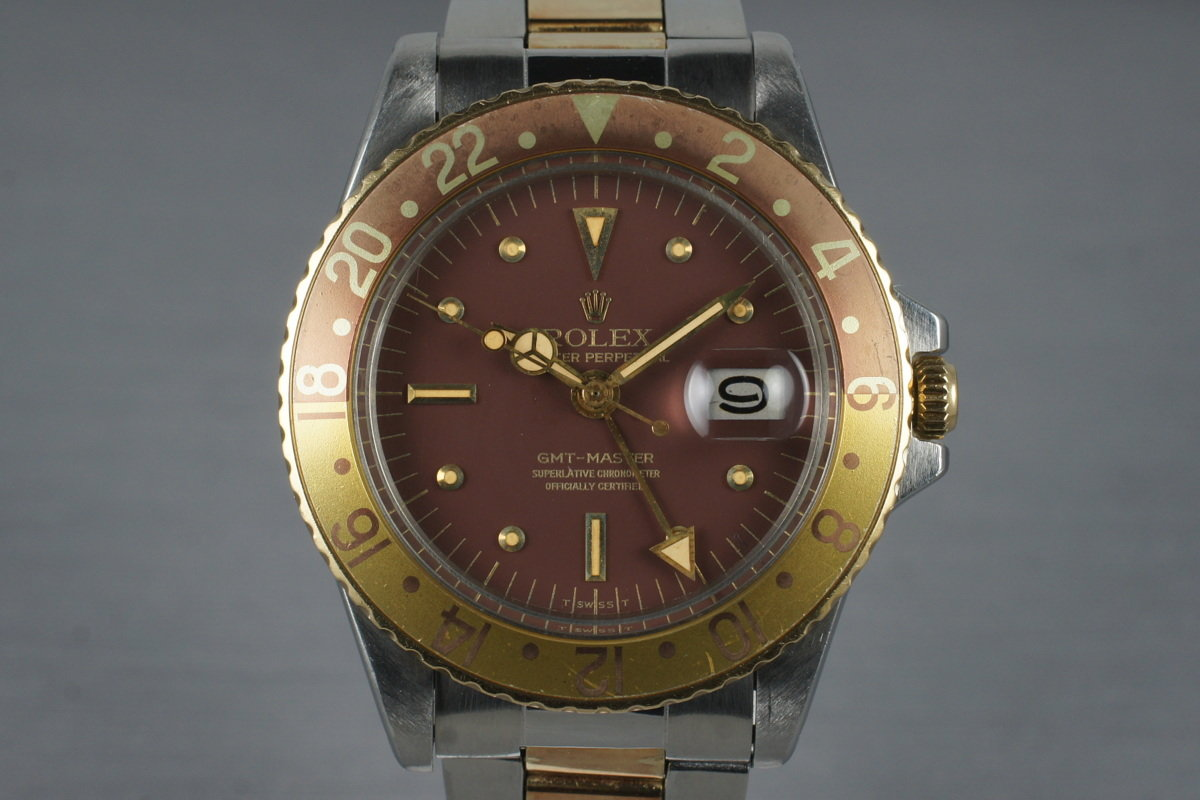 1967 Rolex Two Tone GMT 1675 Root Beer Dial with Service Papers photo, #0