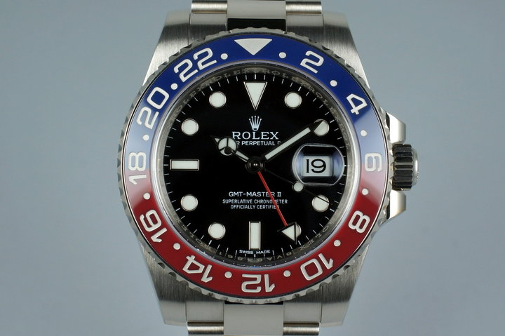 2015 Rolex WG GMT II 116719BLRO with Box and Papers photo