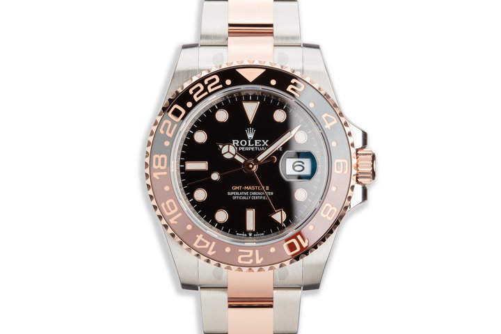 """2020 Rolex Ever Rose GMT-Master II 126711CHNR """"Root Beer"""" with Full Set photo"""