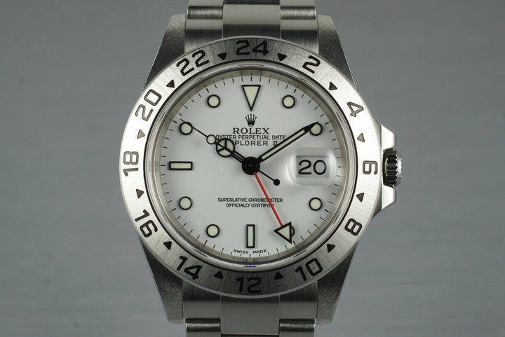 2003 Rolex Explorer II 16570 with White Dial photo