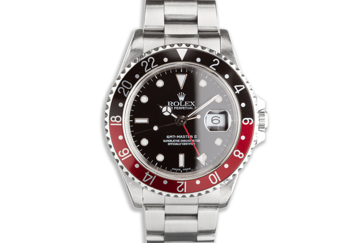 "2000 Rolex GMT-Master II 16710 ""Coke"" Bezel with Box & Papers photo, #0"