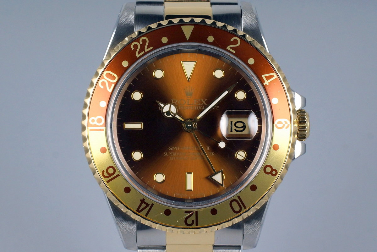 1991 Rolex Two Tone GMT II 16713 Root Beer Dial photo, #0