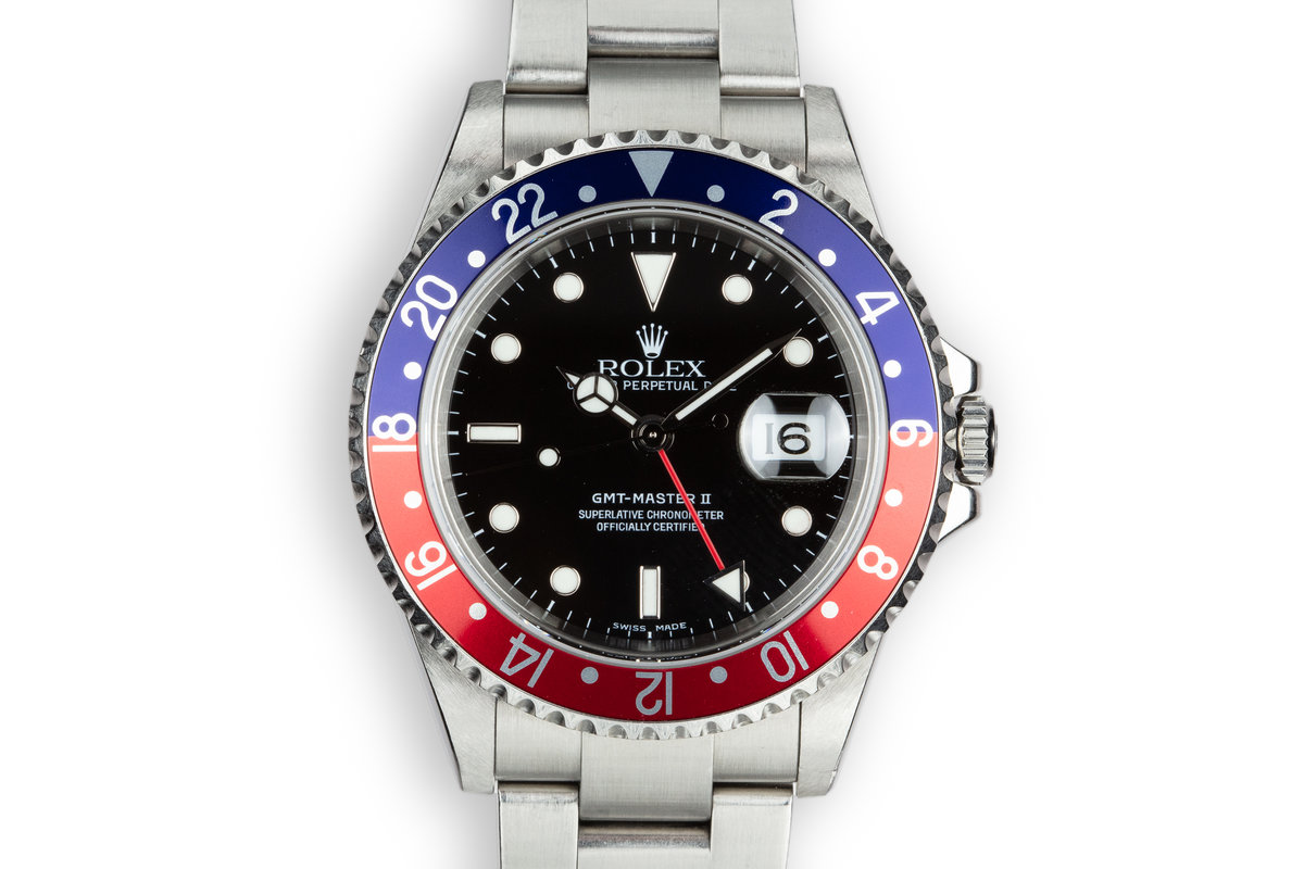 """2005 Rolex GMT-Master II 16710 """"Pepsi"""" with Box and Papers photo, #0"""