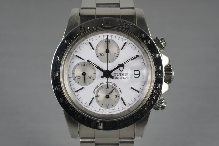 1993 Tudor Chronograph Big Block 79180 White Dial with Box and Papers photo