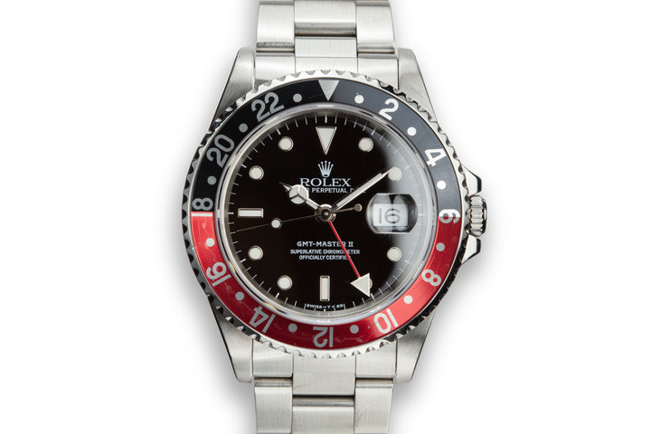 "1997 Rolex GMT-Master II 16710 ""Coke"" with Box and Papers photo"