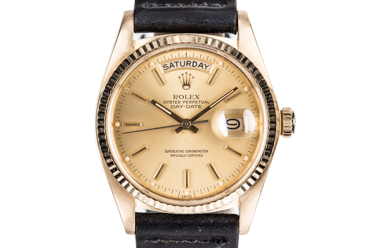 1980 Rolex 18K YG Day-Date18038 with Hang Tags photo, #0