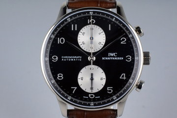 IWC 18K WG Portuguese Chronograph IW3714-13 with Box and Papers photo