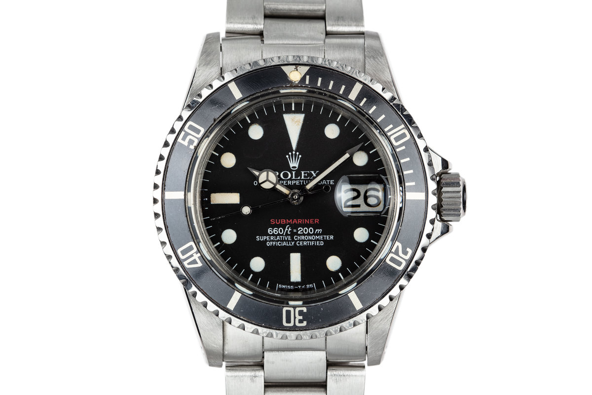 1972 Rolex Red Submariner 1680 Mark 6 Dial photo, #0
