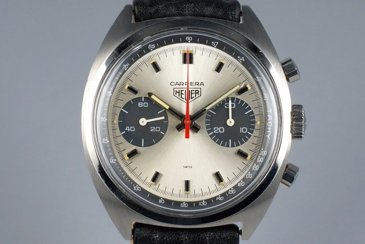 1972 Heuer Carrera 73353 Silver Dial photo