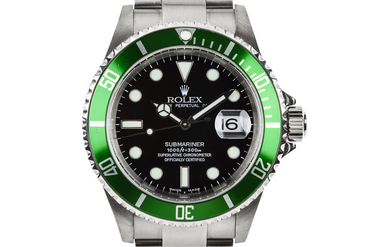 2003 Rolex Green Submariner 16610LV with MK I Maxi Dial photo