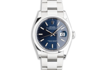 2021 Rolex Datejust 126200 Blue Dial with Box & Card photo