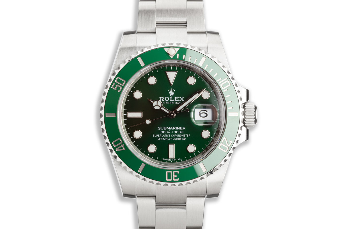 """2020 Rolex Green Submariner 116610LV """"Hulk"""" with Box and Card photo, #0"""