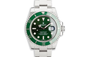 """2014 Rolex Green Submariner 116610LV """"Hulk"""" with Box and Card photo"""